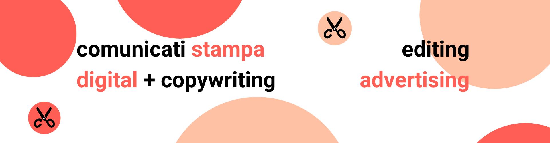 servizi di copywriting, comunicati stampa, editing, advertising, scrivo testi per siti, digital copywriting e copywriting